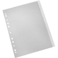 SCHÄFER SHOP PP Tabbladen met insteekstrookjes, A4, grijs, 1-5