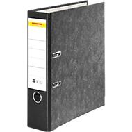 SCHÄFER SHOP standaard ordner, A4, 50 mm, wolkenmarmer, zwart etiket, 25 stuks