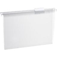 SCHÄFER SHOP Transparente Hängemappe, oben offen, Polypropylen, 15 Stück