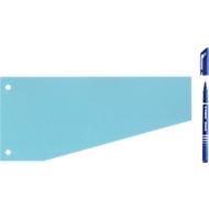 Schäfer Shop Trapez-Trennstreifen, blau, 100 Stück + Gratis Stabilo Fineliner Sensor, blau
