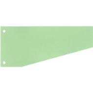 SCHÄFER SHOP Trapezium gekleurde verdeelstroken uit karton, 240 x 105 mm, groen, 100 stuks