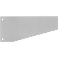 SCHÄFER SHOP trapeziumvormige scheidingsstroken, karton, 100 stuks, grijs