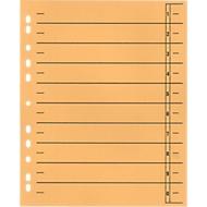 SCHÄFER SHOP Trennblätter mit Taben, DIN A4- Format, Linienaufdruck, 100 Stück, gelb