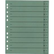 SCHÄFER SHOP Trennblätter mit Taben, DIN A4- Format, Linienaufdruck, 100 Stück, grün