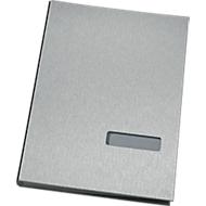 SCHÄFER SHOP vloeiboek, 20 waaiers, karton/stof, zilver metallic
