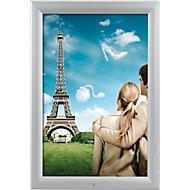 Scharnierend frame, zilver, aluminium/PET beschermfolie, waterdicht, DIN A4