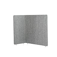 Scheidingswand akoestiek to go 3000 silent.line L-vorm, akoestische & visuele afscherming, B 1800 x H 1500 mm