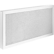 Scheidingswand bureau Akustika, van geperforeerd plaatstsaal, b 1000 x h 400 mm, wit