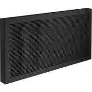 Scheidingswand bureau Akustika, van geperforeerd plaatstsaal, b 1200 x h 400 mm,  zwart
