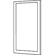 Scheidingswand paneel aluminium klittenband, acrylglas, 1600 x 850 mm, hoek naar keuze, antracietgrijs