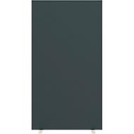 Scheidingswand ruimtescheiding Paperflow, met geluidsisolerend schuimvlies, B 940 mm, antraciet