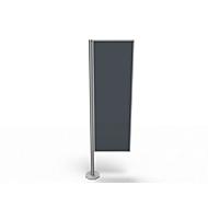 Scheidingswand, Silent Line Plus, 550 x 2000 mm, donkergrijs