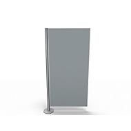 Scheidingswand, Silent Line Plus, 800 x 1700 mm, lichtgrijs