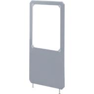 Scheidingswand stof/acryl, (bxh) 800 x 1600 mm, grijs