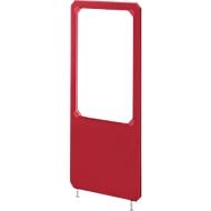 Scheidingswand textiel/acryl, B 800 x H 1800 mm, rood