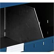 Scheidingswand type B voor magazijnbak, D 335 x H 120 mm