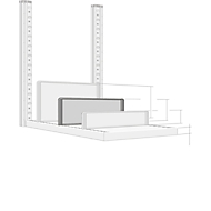 Scheidingswand, vrijstaand, voor archiefrekdiepte 400 mm, H 175 mm