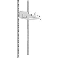 Scheidingswand, vrijstaand, voor archiefrekdiepte 600 mm, H 175 mm