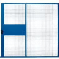 Schiebetür, für Gittertrennwandsystem, B 2238 x H 2110 mm, blau