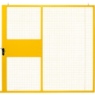Schiebetür, für Gittertrennwandsystem, B 2238 x H 2110 mm, gelb