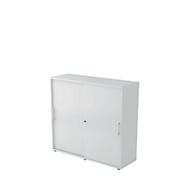 Schiebetürenschrank, 3 OH, B 1200 x T 400 x H 1100 mm, lichtgrau