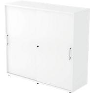 Schiebetürenschrank, 3 OH, B 1200 x T 400 x H 1100 mm, weiß/weiß