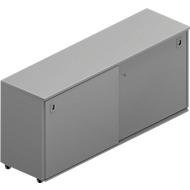 Schiebetürenschrank, B 1600 x T 450 x H 730 mm, grau