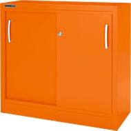 Schiebetürenschrank MS iCOLOUR, 2 Ordnerhöhen, B 1200 mm, orange RAL 2004