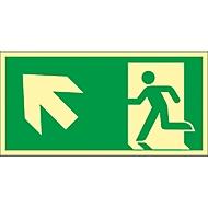 Schild Treppe aufwärts, linksweisend