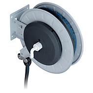 Schlauchaufroller CEMO, Stahlblech, lackiert, für AdBlue® und Wasser, offen, max. 10 bar, Schlauchlänge 8m, Ø 19 mm