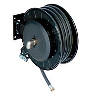 Schlauchaufroller CEMO, Stahlblech, lackiert, für Diesel, offen, mit Gelenkarm, 1
