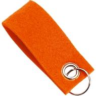 Schlüsselanhänger, aus Filz, Werbeanbringung einfarbig möglich, L 90 x B 35 mm, orange