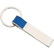 Schlüsselanhänger Hang On, silber/blau