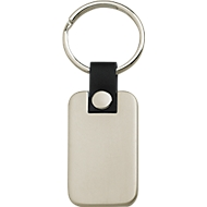 Schlüsselanhänger Metmaxx® RepresentativeMetall, Werbefläche 30 x 20 mm, Metall matt