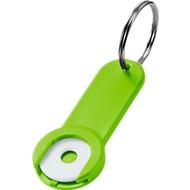 Schlüsselanhänger Shoppy, Kunststoff, grün