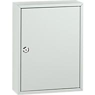 Schlüsselkasten mit 40 Schlüsselanhängern, lichtgrau/lichtgrau