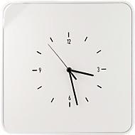 Schlüsselkasten Paperflow Multibox, mit 12 Haltern und Uhr, weiß