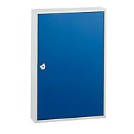Schlüsselkasten TS100, für 100 Schlüssel, lichtgrau/enzianblau