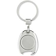 Schlüsselring mit Einkaufswagenchip, mit Magnethalterung, integrierter Flaschenöffner