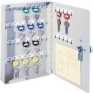 Schlüsselschrank, Elektronikschloss, 46 Haken, lichtgrau