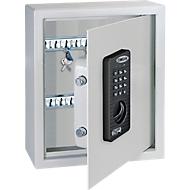 Schlüsselschrank Rottner KeyTronic 20, Stahl, Elektronikschloss, hellgrau