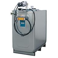 Schmierstoffkompaktanlage CEMO ECO UNI 1000, elektrische Pumpe für Frischöl, 4 m Schlauch inkl. Schlauchhalter