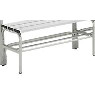 Schoenenrooster v. garderobebanksysteem, 1015 mm, staal, lichtgrijs