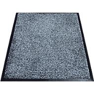 Schoonloopmat Karaat, High-Twist-nylon, 600 x 850 mm, grijs