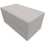 Schrank SOLUS PLAY, 2 Schübe, B 800 x T 440 x T 374 mm, Ceramic grey