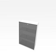 Schrank X-TIME WORK, 3 OH, Glastüren, 860 x 430 x 1310 mm, Glas/Weiß