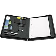 Schreibmappe COLLEGE, A4, Polyester, f. Standard- & Collegeblöcke, mit Reißverschluss