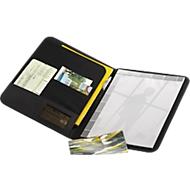 """Schreibmappe """"Wave"""", A4, Polyester/Kunststoff, 5 Fächer + Stifthalter, WAB 50 x 40 mm"""