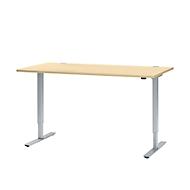Schreibtisch, 1-stufig elektr. höhenverstellbar, B 1800 mm, Ahorn-Dekor