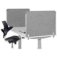 Schreibtisch-Akustik-Trennwand BE Safety Screen Seitenwand, ohne Acrylfenster, Dicke 10 mm, T 60 x H 60 mm, hellgrau